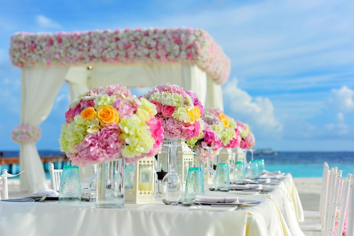 photo of floral centerpieces
